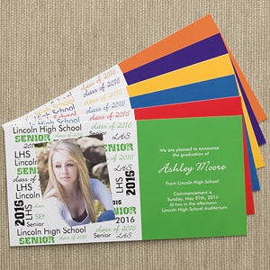 Personalized Photo Graduation Announcement Postcards - 10105