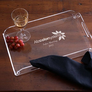 Personalized Corporate Engraved Logo Serving Tray - 10114