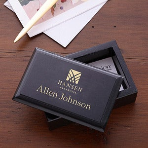 Personalized Corporate Logo Marble Business Card Holder - 10140