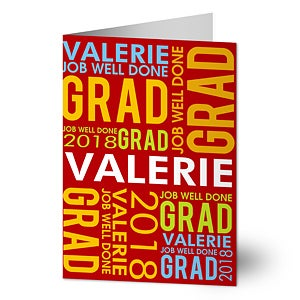 Personalized graduation greeting cards job well done job well done personalized greeting card m4hsunfo