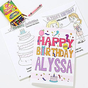 Personalized Birthday Coloring Books - Happy Birthday - 10163