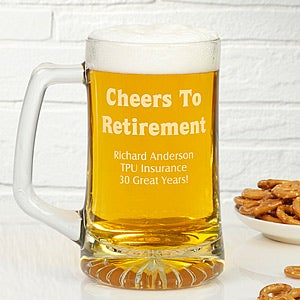 Personalized Retirement Beer Mug - 10168
