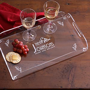 Personalized Hostess Serving Tray Gift - Four Seasons Design - 1017