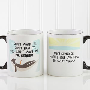 Personalized Retirement Coffee Mugs - I'm Retired - 10174