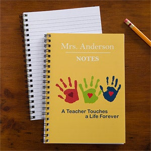 Personalized Teacher Notebook Set - Touches A Life - 10196