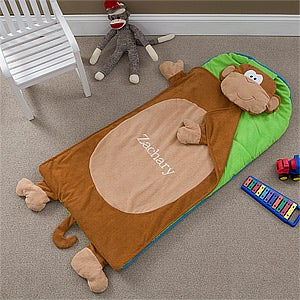 Personalized Sleeping Bag Nap Mat - Monkey - 10198