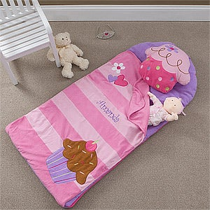 Personalized Sleeping Bag Nap Mat - Cupcake - 10201