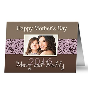 Personalized Mother's Day Photo Greeting Cards - Mommy & Me - 10206