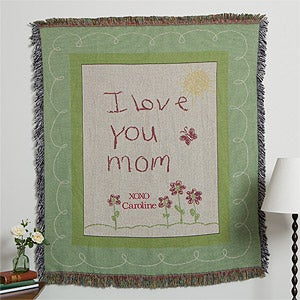 Personalization Mall Mother's Day Gifts -  Personalized Mother's Day Afghan - I Love You Mom at Sears.com