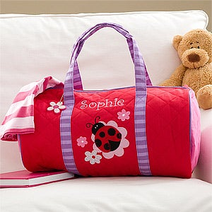 Personalized Girls Duffel Bags - Ladybug - 10221