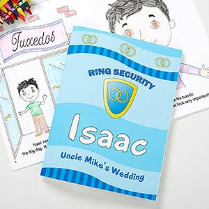 personalized ring bearer coloring book 10245
