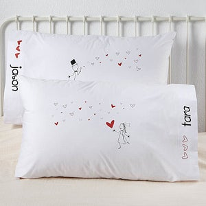 Personalized Pillowcase Set - Blown Away By Love - 10249