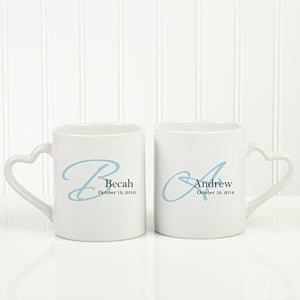 Personalized His & Hers Coffee Mug Set - Our Initials - 10250