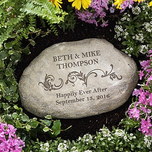 Personalized Decorative Garden Stones - Loving Couple - 10256