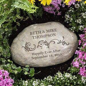 Personalized Decorative Garden Stones Loving Couple Wedding Gifts