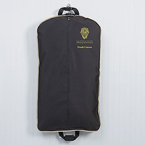 Personalized Logo Garment Bag tan trim - 10261