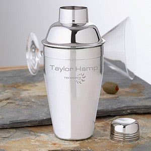 Personalized Corporate Logo Engraved Cocktail Shaker - 10266