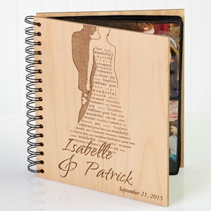 Engraved Wedding Gifts Bride Groom : Personalized Wedding Photo Album - Bride & Groom - Wedding Gifts