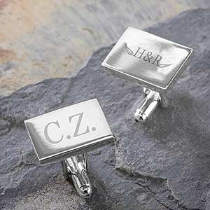 Personalized Business Logo Engraved Cuff Links - 10275