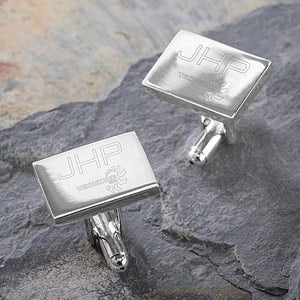 Personalized Corporate Custom Logo Engraved Cuff Links - 10275