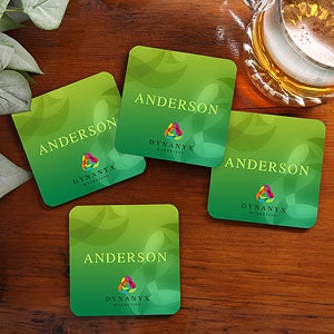 Personalized Corporate Custom Logo Coaster Set - 10285
