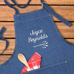 Personalized Corporate Custom Logo Denim Apron - 10286