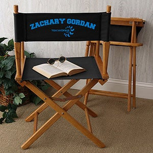 Personalized Corporate Logo Black Director Chair - 10303