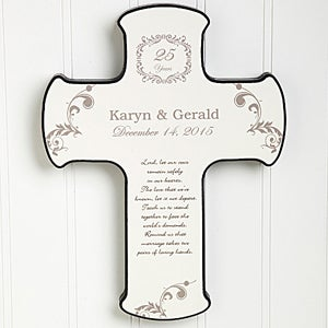 Personalized Wall Cross - Our Anniversary Blessing - 10311