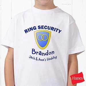 Personalization Mall Personalized Ring Bearer Wedding T-Shirt - Ring Security at Sears.com