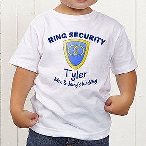 Personalized Ring Bearer Wedding T-Shirt - Ring Security - 10313