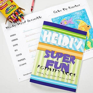 Personalized Kids Coloring Book & Crayon Set - 10323