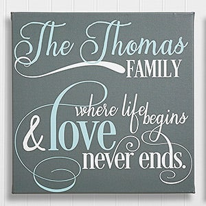 Family Quote Personalized Canvas Prints - 10327