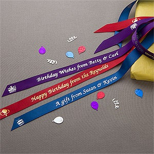 Personalized Birthday Ribbon - Birthday Cheer - 10331