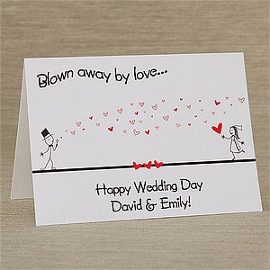 Personalized Greeting Cards - Blown Away By Love - 10334