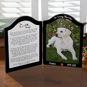 Personalized Pet Memorial Photo Plaque - Pets In Heaven - 10344