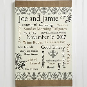 Our Life Together 12x18 Personalized Wedding Canvas Art - Wedding ...