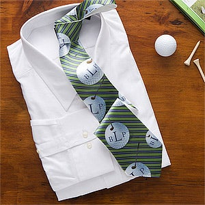 Personalized Men's Ties - Golf Ball Monogram - 10366
