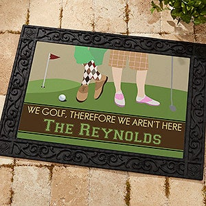 Exceptionnel Personalized Doormats For Golfers   Gone Golfing   10367