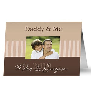 Personalized Photo Father's Day Cards - Daddy & Me - 10374
