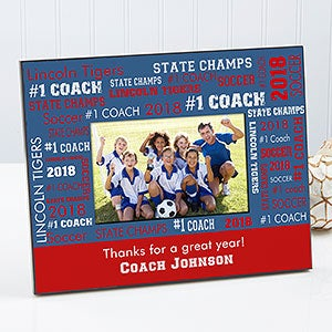 personalized sports coach picture frames