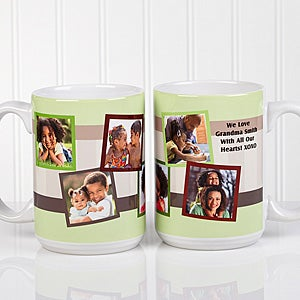 personalized photo collage 15 oz coffee mugs for him