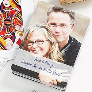 Our Anniversary Personalized Photo Playing Cards