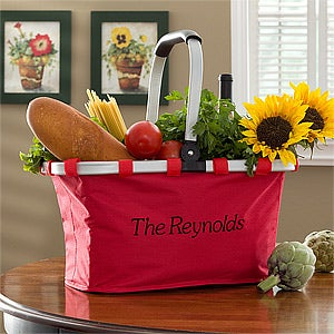 Personalized Collapsible Grocery Tote - 10401