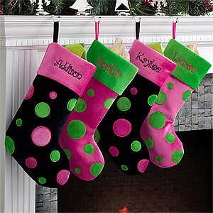 Personalized Christmas Stockings for Girls - 10409
