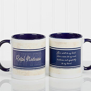 Personalized Lawyer Coffee Mugs Inspiring Lawyer Blue