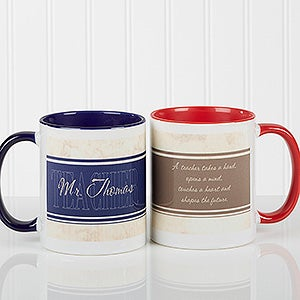 Personalized Teacher Coffee Mugs - Inspiring Teachers - 10412