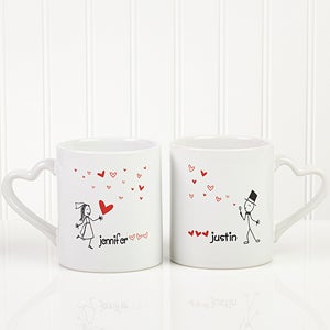 couples coffee mug set blown away by love