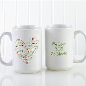 Personalized Coffee Mugs For Mothers Heart Of Love 10430