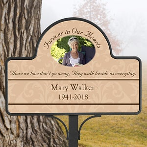Personalized Memorial Garden Stake - Forever In Our Hearts - 10443