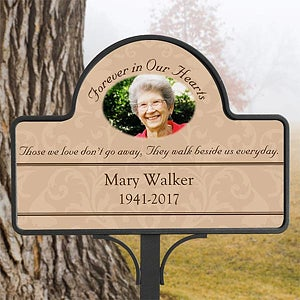 Superb Personalized Memorial Garden Stake   Forever In Our Hearts   10443